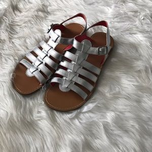 Mini Boden leather gladiator sandals